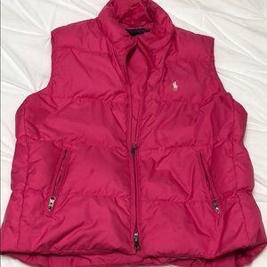 Ralph Lauren Hot Pink puffer vest in small.